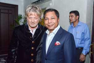 Rohit Bal with Mukul Sangma