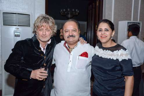 Rohit Bal with Sanjeev and Kavita Bali