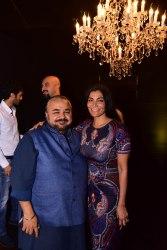 Designer JJ Valaya with Harithi Reddy
