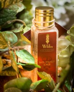 WIKKA's Basil Walnut exfoliating scrub