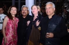 After Event Party Sylvie Polette, Sunil Alagh, Antigone Schilling & Sanjiv Bhatia