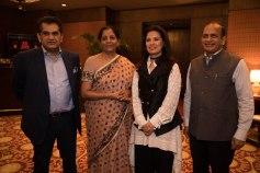 Amitabh Kant, Nirmala Sitharaman, Ritu Beei & Ramesh Abhishek