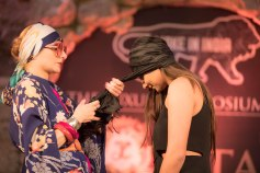 Catherine Baba tying turban on Inayat