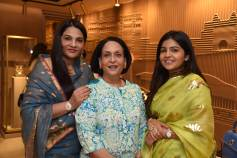 Sunita Shekhawat with HH Rajshree Kumari Bikaner and Niharika Shekhawat