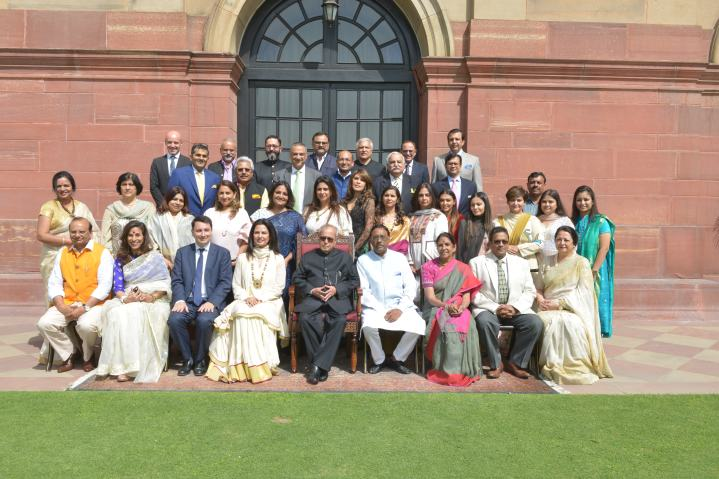 TLL delegates with honorable President of India