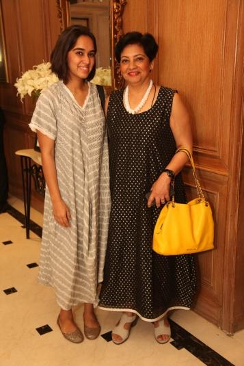 Arushi Kalra with Punam Kalra