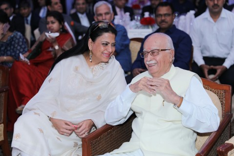 Pratibha Advani and L K Advani