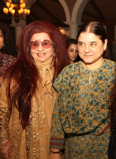 Shahnaz Husain with Maneka Gandhi