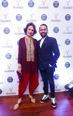 Bina Ramani with Angad Singh Gandhi, Brand Ambassador, Glenfiddidch India