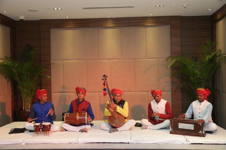 Artist - Kaluram & his group at Namaste Orchha Curtain Raiser New Delhi